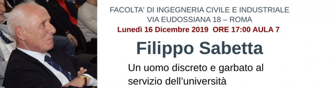 Filippo Sabetta - Commemorazione